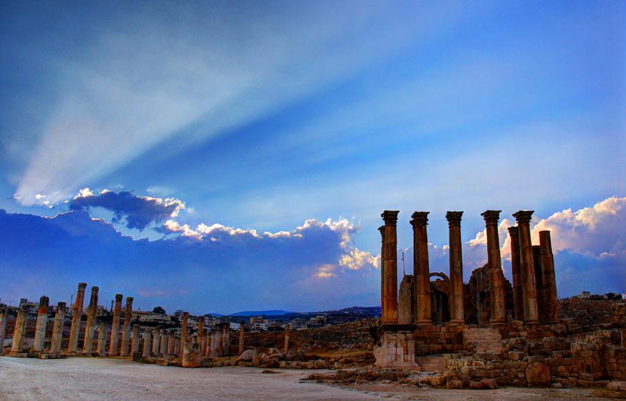 Pôr do Sol em Jerash