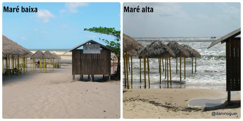 Praia de Barra Velha - mare baixa e mare alta