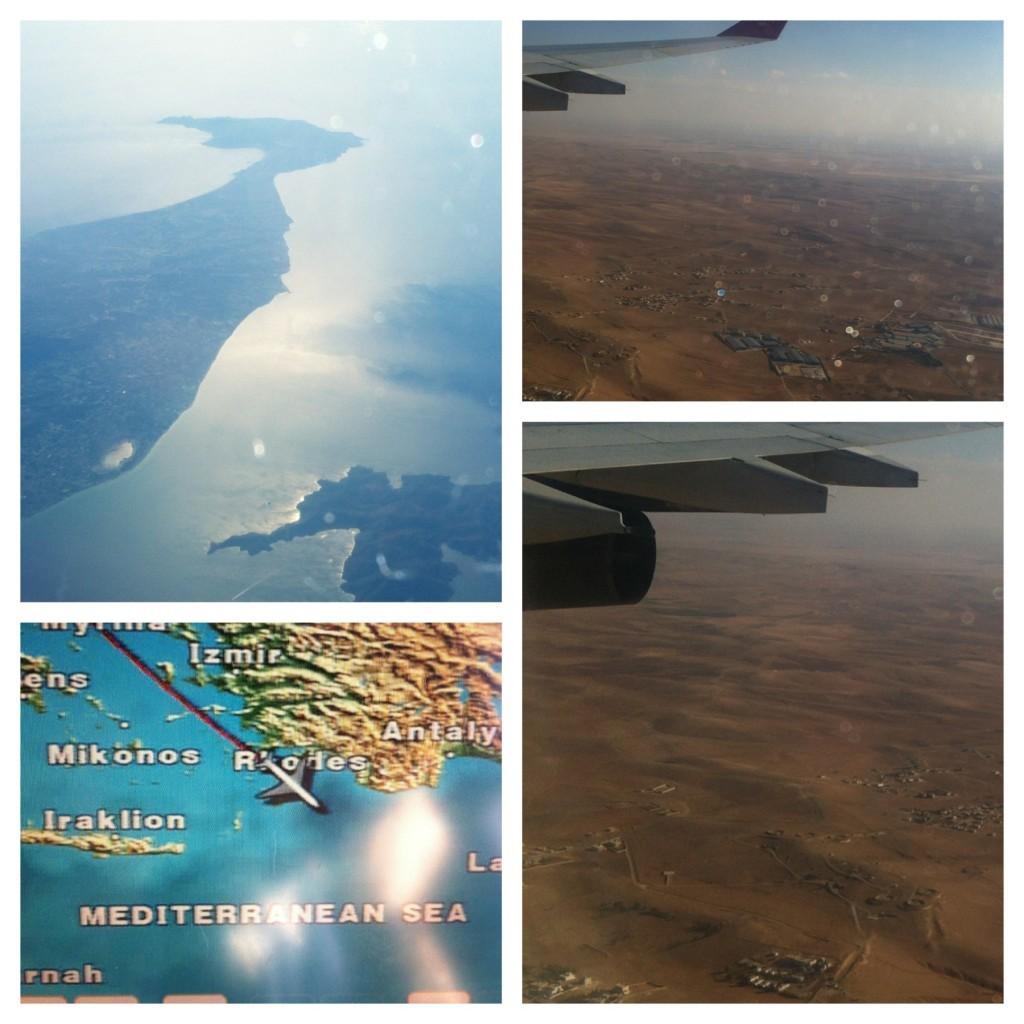 Da janela do avião