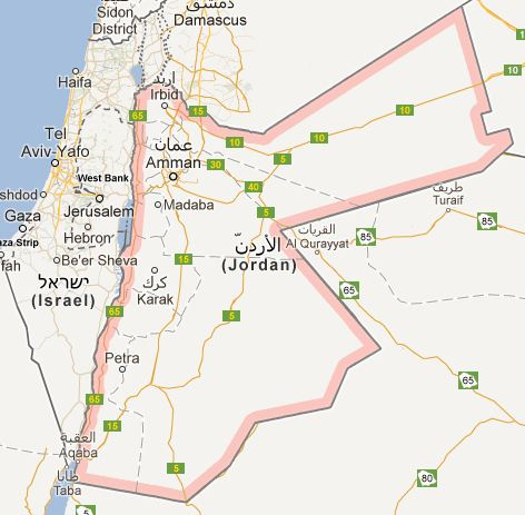 mapajordania