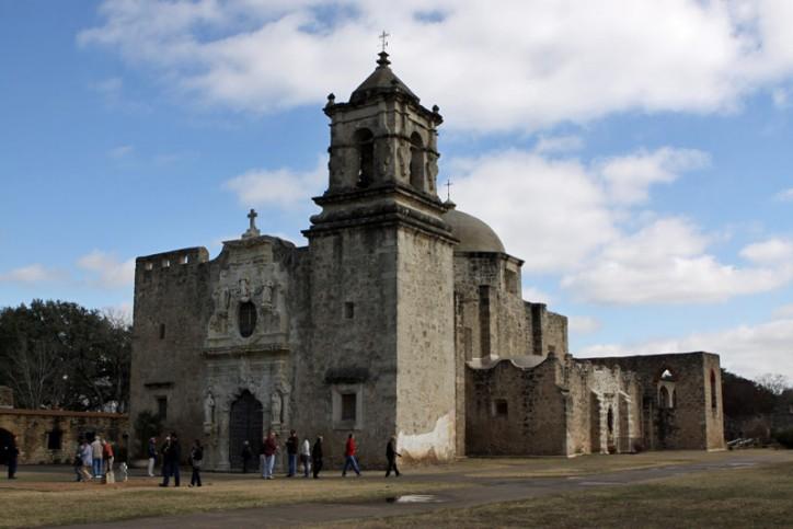 Missão San José, a mais importante das 4 missões do Parque Nacional
