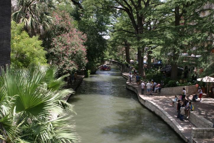 Um pedacinho da Riverwalk em julho de 2008