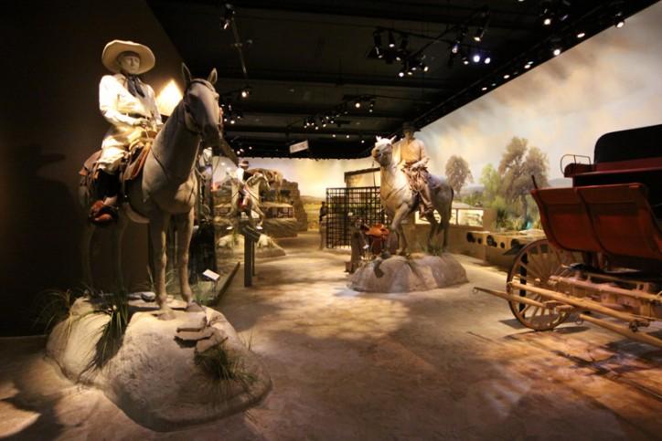 A exposição sobre a história do Texas no Witte Museum