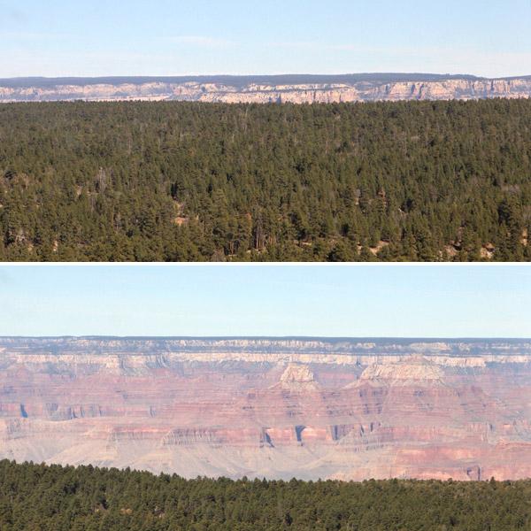 aproximando grand canyon