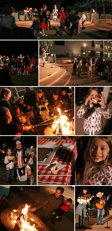campfire e smores no Hyatt Scottsdale