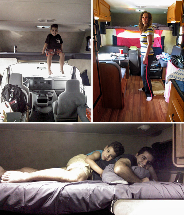 dentro do motorhome