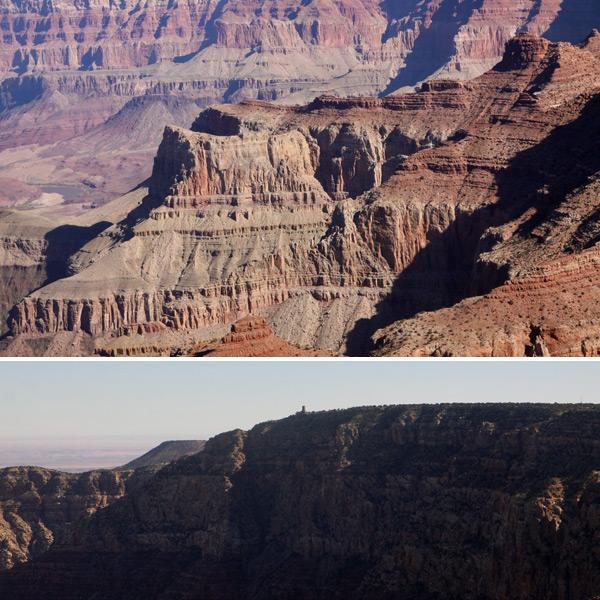 entrando no grand canyon