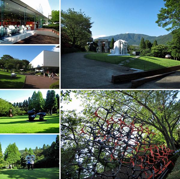 Esculturas e instalações no Hakone Open Air Museum