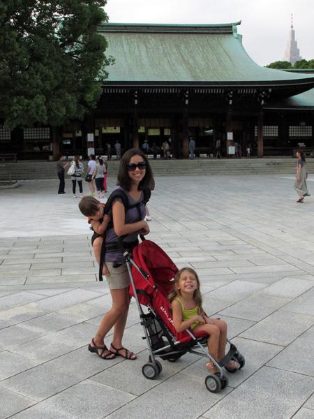 Eu, Eric e Julia no templo Meiji, Tóquio