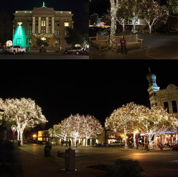 Luzes de Natal em Georgetown, Texas