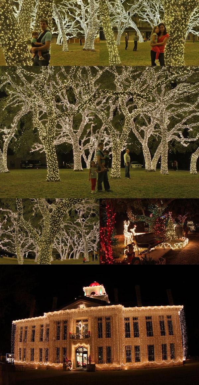 Luzes de Natal em Johnson City, Texas