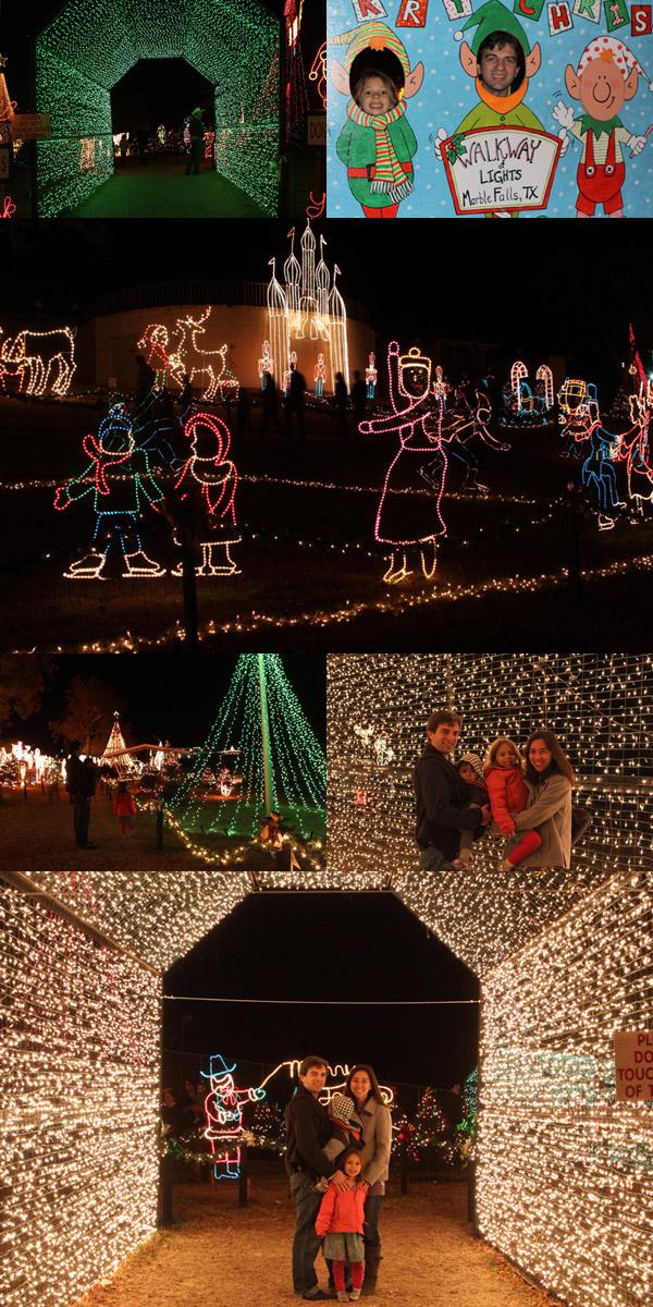 Luzes de Natal em Marble Falls, Texas