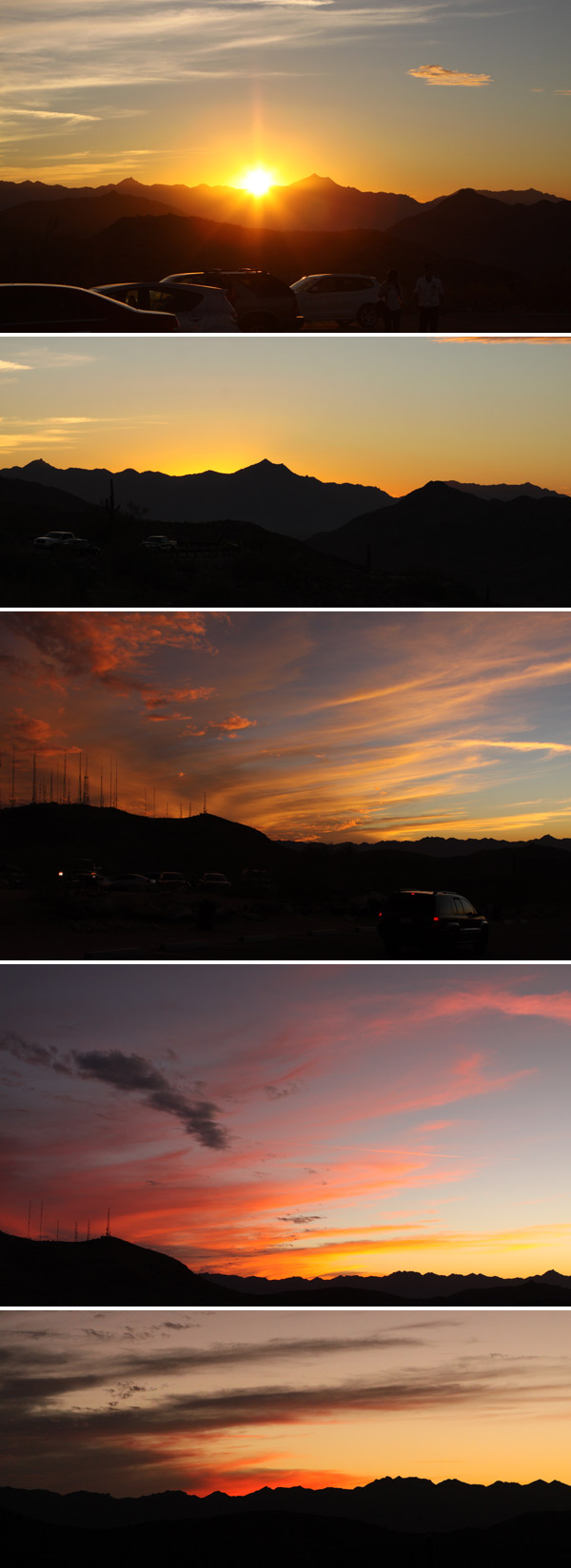 por do sol na south mountain