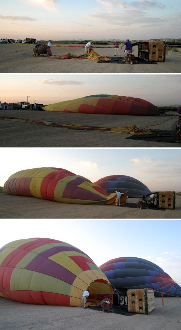 preparando os baloes