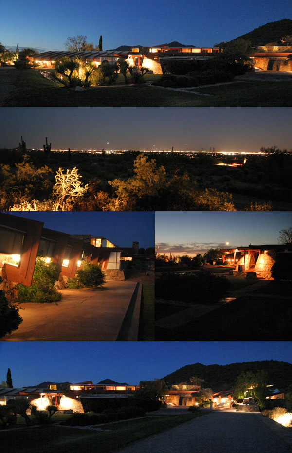 taliesin west a noite