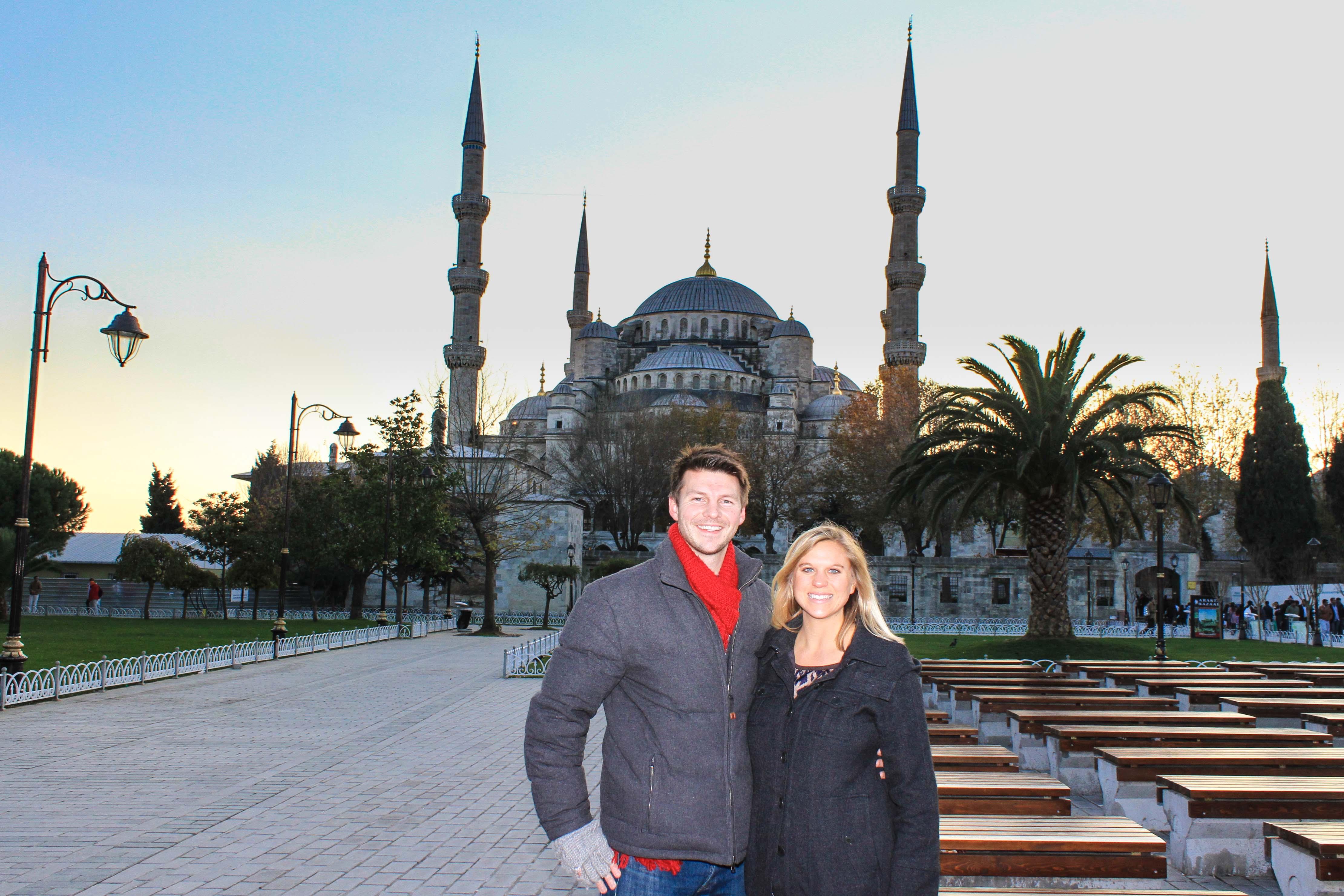 Alex com a esposa