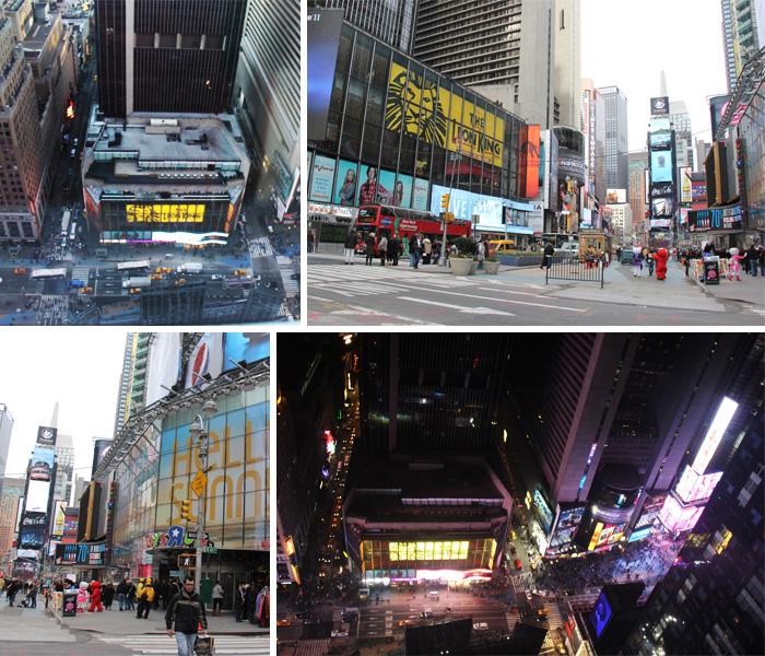 Vista do quarto e Localização em Times Square