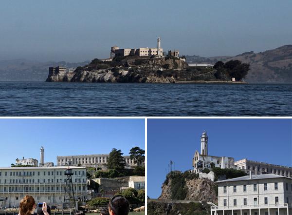 A ilha de Alcatraz, com a sua prisão famosa