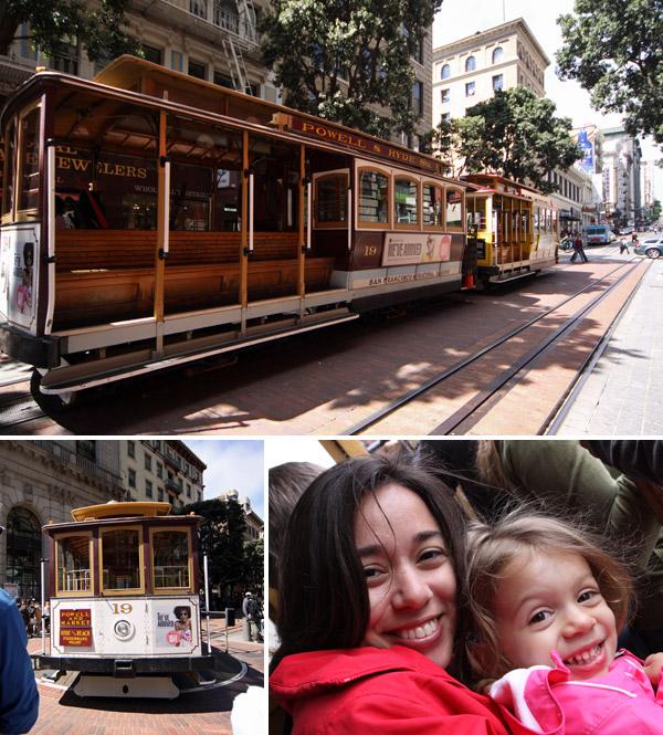 Os Bondinhos de San Francisco são uma diversão, mas ficam bem cheios!