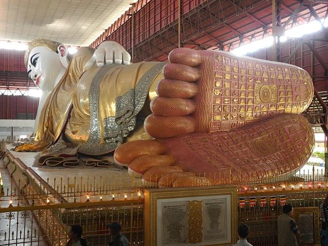 O Buda deitado de Mianmar é uma das atrações mais famosas