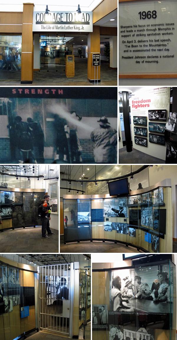Exposição sobre a vida de Martin Luther King Jr no Centro de Visitantes