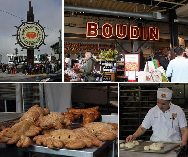 Os pães da Boudin Bakery em forma de bichinhos diversos - e os padeiros em ação - são uma atração famosa