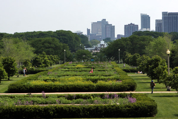 Grant Park com a Buckingham Fountain ao fundo