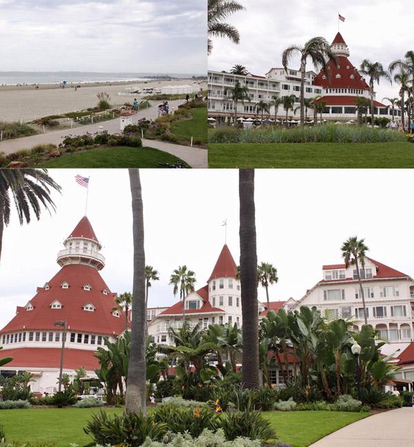Hotel Coronado, histórico, na beira da praia em Coronado