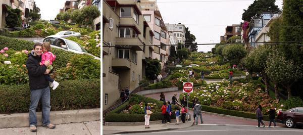 """Lombard Street, """"a rua mais torta do mundo"""" é um dos cartões postais da cidade"""