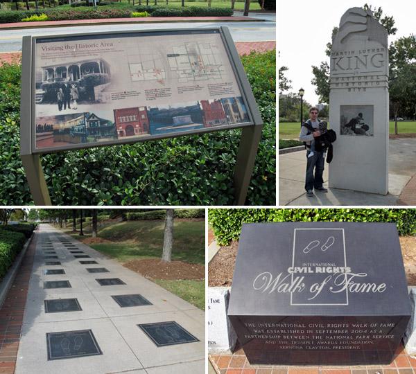 Chegando ao Distrito Histórico Martin Luther King Jr, em Atlanta