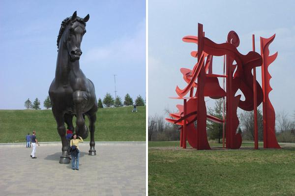 Esculturas no Meijer Gardens & Sculpture Park