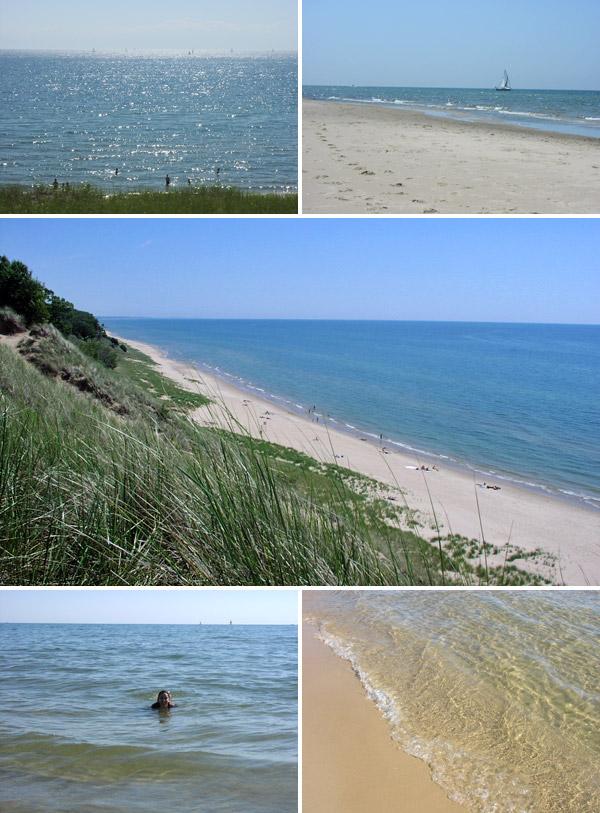 Muskegon tem praias bonitas no Lago Michigan