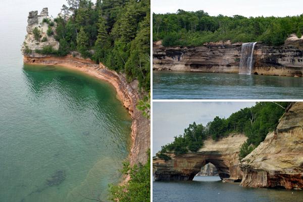 Pictured Rocks, na Upper Peninsula, um dos lugares mais bonitos