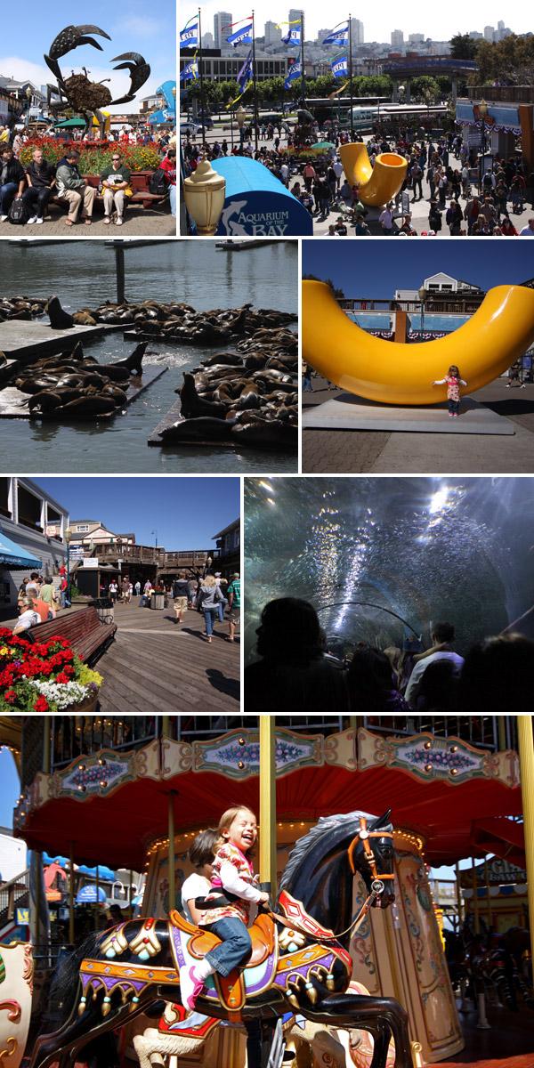 Pier 39: várias atrações que a criançada gosta