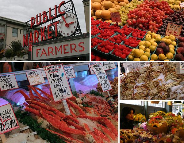 O centenário Pike Place Market em Seattle é um dos melhores dos EUA