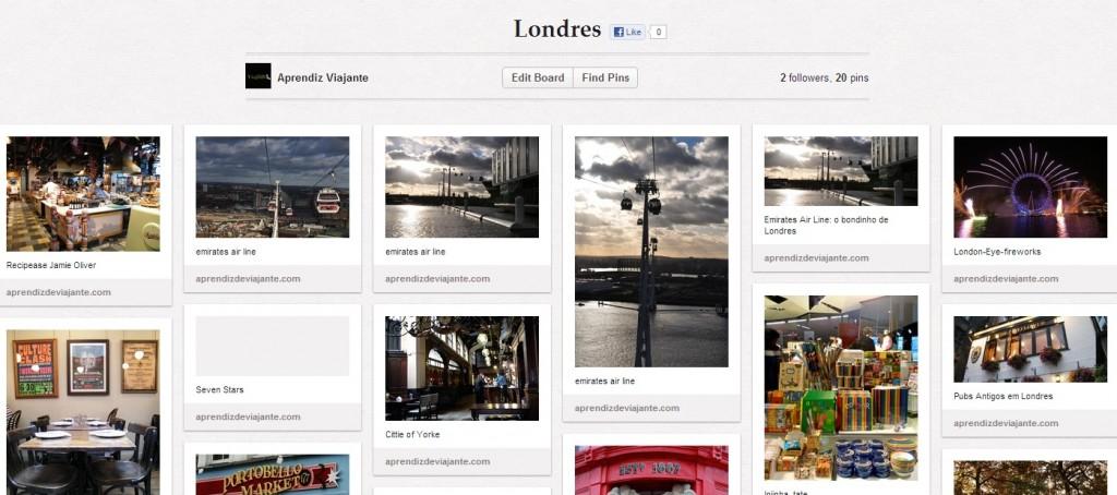 Londres tem um board separado no nosso Pinterest