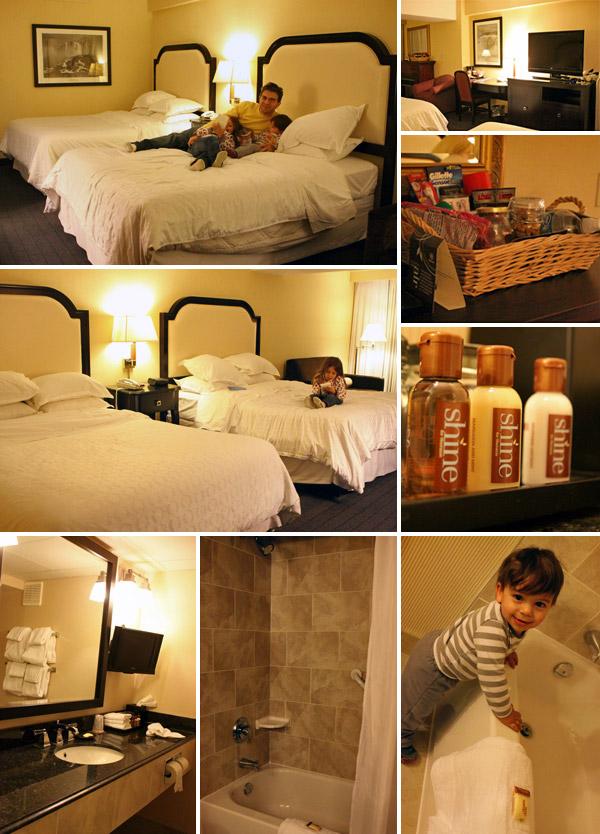 Nosso quarto no Sheraton on the Falls, em Niagara Falls, Ontario, Canadá