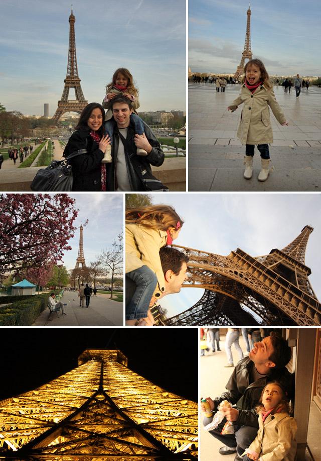 A Torre Eiffel foi a atração preferida da Julia em Paris