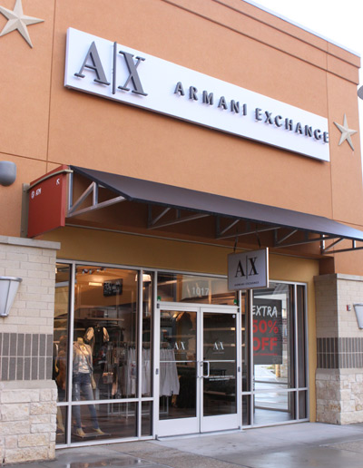 Armani Exchange no Houston Premium Outlets