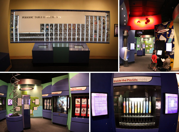 A área interativa sobre Química no Houston Museum of Natural Science