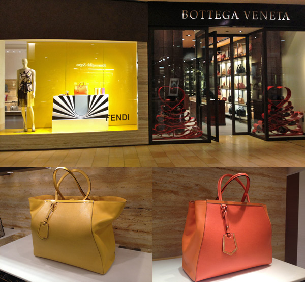 Fendi e Bottega Veneta no Galleria em Houston