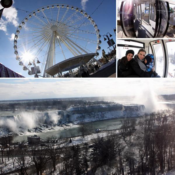A Niagara Skywheel e a vista que se tem de dentro das cápsulas