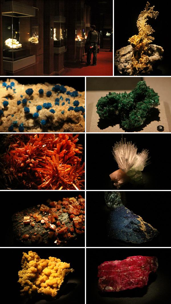 A área de Minerais e Pedras do Houston Museum of Natural Science