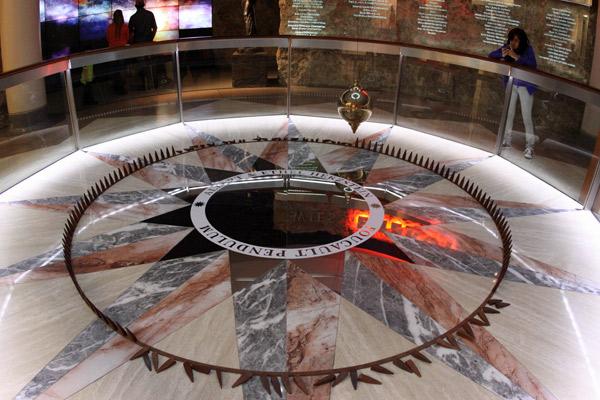 O Pêndulo de Focault no Houston Museum of Natural Science