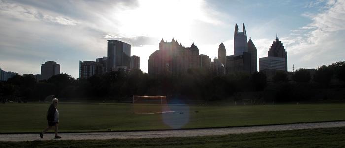 Piedmont Park em Atlanta -