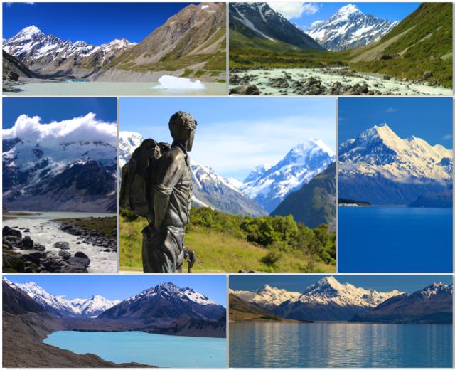 Oitavo dia da viagem: explorando a base do Mount Cook