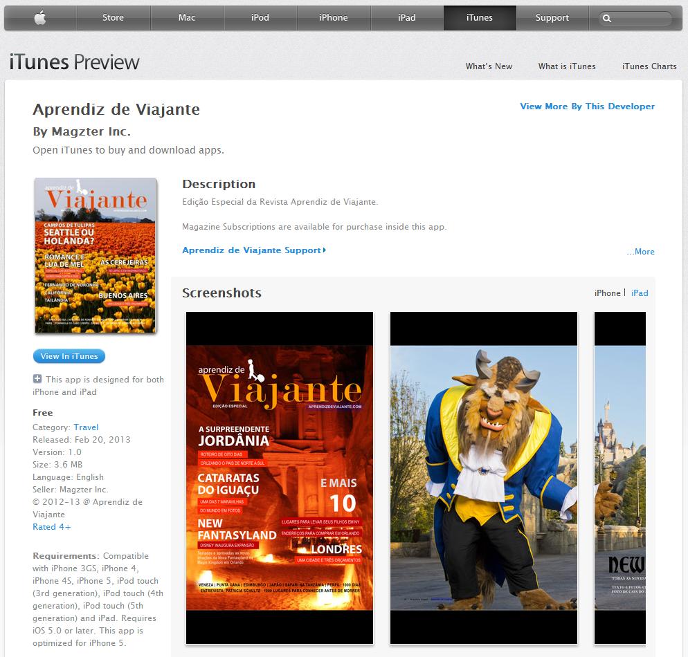 App no Itunes