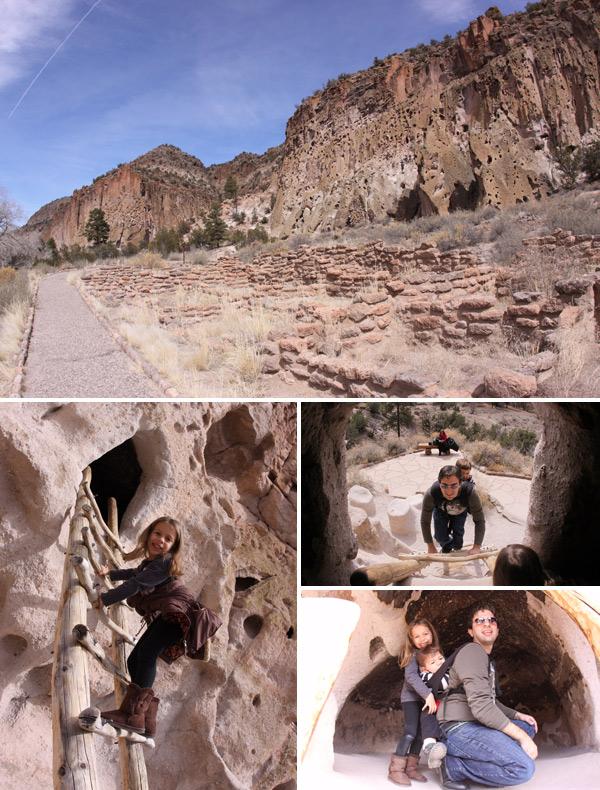Bandelier National Monument, onde ficam as cavernas onde viveram os Anasazi, no Novo México