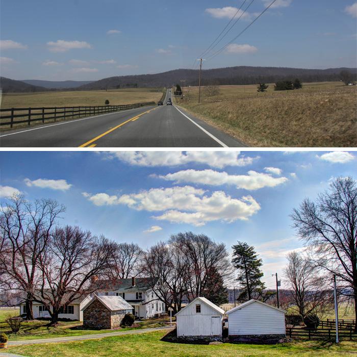 A estrada e chegada