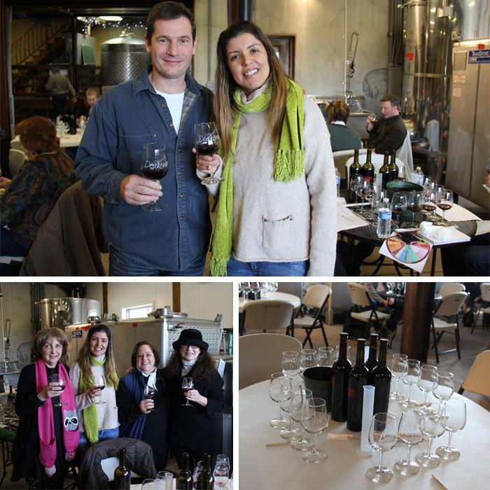 Com o winemaker Sebastian e minhas colegas de mesa